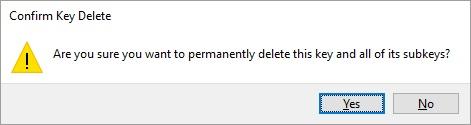 confirm key delete
